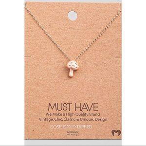 Kameakay Rose Gold Dipped Mushroom Necklace